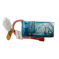 Gens Ace 1000mAh 3S 11.1V 45C Lipo Battery Pack with Deans Plug