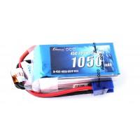 Gens Ace 1050mAh 22.2V 45C 6S1P Lipo Battery Pack with EC3 Plug
