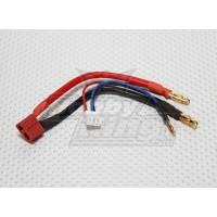 Cable Baterias tipo T a Bullet 4mm c/ Balanceador